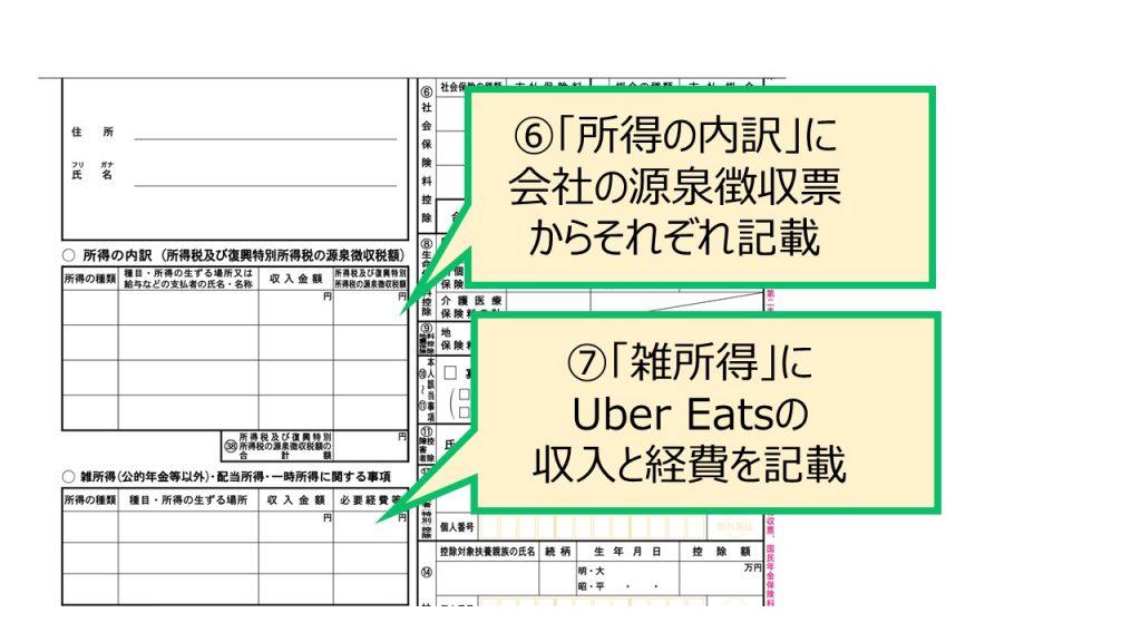 Uber Eats 確定申告 書き方 A 雑所所得